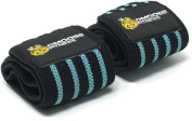 Wrist Wraps by DMoose Fitness – Premium Quality, Strong Hook and loop, Thumb Loops, Double Stitching – Maximise Your Weightlifting, Powerlifting, Bodybuilding & CrossFit Workouts with Durable Wraps