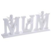 Decorative Cherub Letters Plinth MUM Birthday Anniversary Mothers Day Gift