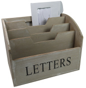 khevga Letter Tray Wooden – Country House Style