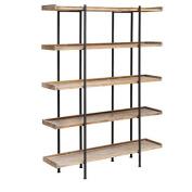 Crestview Wingate Rustic Wood and Metal 4 Shelf Etagere CVFZR2246