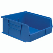 Hanging & Stacking Storage Bin 11 X 10-7/8 X 5, Blue - Lot of 6