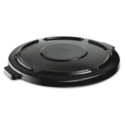 RCP264560BLA - Rubbermaid Brute Vented Lid for 166.6l Round Container 2643, Black