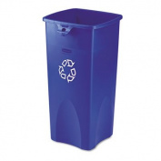 Untouchable Recycling Container, Square, Plastic, 87.1l Blue, Sold as 1 Each