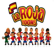 Pack of 10 - La Roja Toons Official Spanish Team 7cm Football Figures in Blind Suprise Foil Party Bags