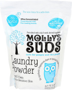 Molly's Suds All Natural Unscented Laundry Powder 70 Loads - Free of Harsh Chemicals, Gentle on Sensitive Skin and Eczema.