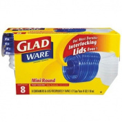 GladWare Mini-Round Food Container with Lid in Clear