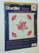ROSES PILLOW (Stamped Embroidery with Candlewicking) PLAID Bucilla Kit #42723