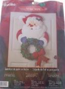 Bucilla Felt Christmas Door Hanging Santa with Wreath Kit