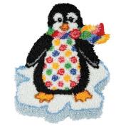 Craftways Polka Dot Penguin Latch Hook Kit