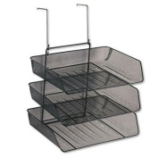 """Fellowes - Mesh Partition Additions Three-Tray Organiser 11 1/8 X 14 X 14 3/4 Black """"Product Category"""