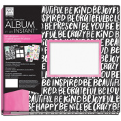 Me & My Big Ideas Album In An Instant 30cm x 30cm -Black/White/Pink