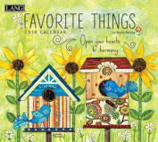 Favorite Things 2018 Wall Calendar