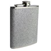 Prime Homewares 240ml Stainless Steel Plain Glitter Hip Flask Ladies Whisky Flasks