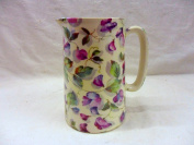 1 Pint Jug in pastel sweetpea design made by Heron Cross Pottery.