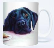Watercolour Black Labrador Mug by Otter House