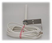 Alda PQ Antenna for wall mounting for 4G (LTE), 3G (UMTS), 2G (GSM), with SMA/M plug and 5m (5.46 yd) cable 2.2 dBi gain
