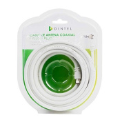 Antenna cable 10 metres White F-F Blister dintel