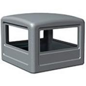 Square Dome Lid Colour: Grey