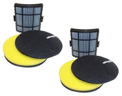 2 Pack Bissell Powerglide Lift-Off Vacuum Filter Set,  .   Bissell Part 160-1972, 160-1973, 160-1974, 1601974, 1603437, 2763, 1211, Designed & Engineered by Best Vacuum Filter