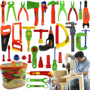 Livecity Kids Play Pretend Toy Tool Set Workbench Construction Workshop Toolbox Tools Kit