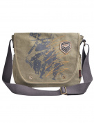 Douguyan Casual Shoulder Bag Handbag Messenger Bag for Men Enough to Hold Books A4 E44003 Green