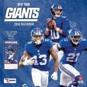 New York Giants 2018 12x12 Team Wall Calendar