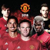 Manchester United FC 2018 12x12 Team Wall Calendar