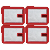 Pyrex 7211-NLC Rectangle Red 6 Cup Vented No-Leak Lid replaces 7211-PC - 4 Pack