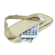 Tan Colour Money Belt Hidden Secret Security Safe Travel Pouch-Tickets, Cash, Jewellery