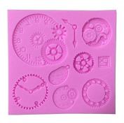 Awesome Gears, Wheels & Clock Silicone Mould (Steam Punk) - Custom Silicone Moulds from Bakell