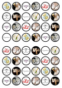 48 Bridal/Wedding Edible PREMIUM THICKNESS SWEETENED VANILLA, Wafer Rice Paper Cupcake Toppers/Decorations