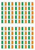 50 Irish Flag Edible PREMIUM THICKNESS SWEETENED VANILLA, Wafer Rice Paper Cupcake Toppers/Decorations
