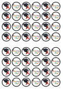 48 Graduation Edible PREMIUM THICKNESS SWEETENED VANILLA, Wafer Rice Paper Cupcake Toppers/Decorations