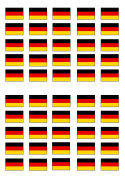 50 German Flag Edible PREMIUM THICKNESS SWEETENED VANILLA, Wafer Rice Paper Cupcake Toppers/Decorations