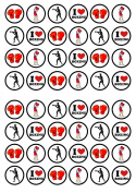 48 Boxing Edible PREMIUM THICKNESS SWEETENED VANILLA, Wafer Rice Paper Cupcake Toppers/Decorations