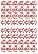 48 Best Teacher Edible PREMIUM THICKNESS SWEETENED VANILLA, Wafer Rice Paper Cupcake Toppers/Decorations