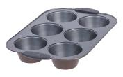 MAKER Homeware 6 Cup Jumbo Muffin Pan, 6 Pack
