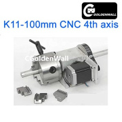 4 jaw Chuck 100mm CNC 4th axis (A aixs, rotary axis) + Tailstock for cnc engraving machine, Hollow shaft