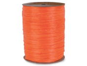 MATTE Orange Raffia 100 yd