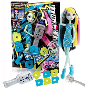 Mattel Year 2015 Monster High 28cm Doll - VOLTAGEOUS HAIR FRANKIE STEIN with Electronic Hair Tool, Stencils, Pink & Blue Extensions and Brush