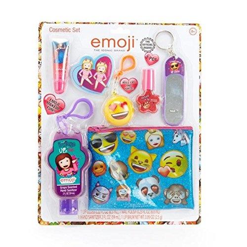 Townley Girl Emoji Cosmetic Set for Girls, Lip Gloss, Nail