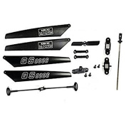 NiGHT LiONS TECH 130cm GT QS8006 Quick Wear Spare Parts Set Blade+Shaft+Balance bar Tail Blade Rc helicopter
