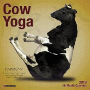 Cow Yoga 2018 Mini Wall Calendar