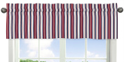 Red, White and Blue Stripe Window Valance for Nautical Nights Collection