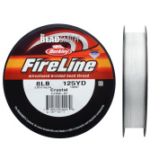 Fireline Braided Beading Thread, 3.6kg Test and .23cm Thick, 125 Yards, Crystal Clear