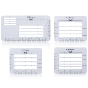 OPount 4Pcs 4 Style Envelope Addressing Guide Stencil Templates Fits Wide Range of Envelopes, Sewing, Thank You Card