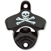 Black Powder Coated Skull & Bones Pirate Wall Bottle Opener