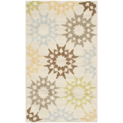 Safavieh Martha Stewart Collection MSR1843A Quilt Cotton Area Rug, 0.6m by 1.2m, Cream