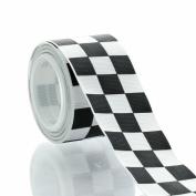 3.8cm Black Racing Chequered Grosgrain Ribbon 5yd