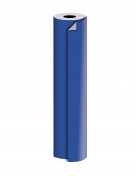"Jillson Roberts 60mx30"" Bulk 1/4 Ream All-Occasion 2-Sided Gift Wrap, Royal/Silver Kraft"